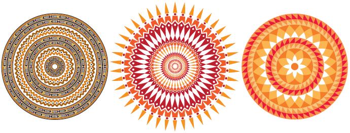 Exemplos de Mandalas com Pincél de Padrão